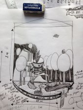Concept Sketch for Pictoplasma Academy All Stars 2014 Exhibtion