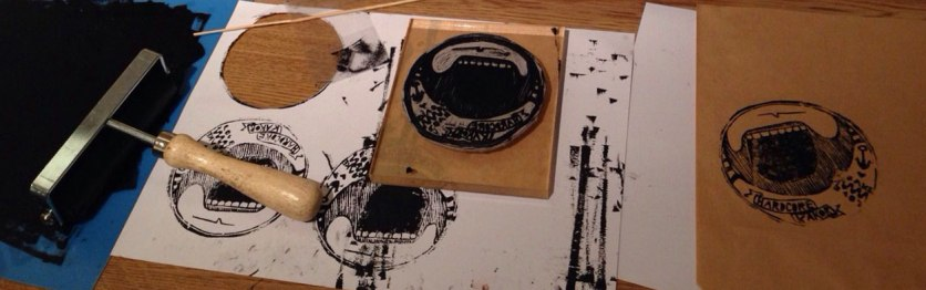 Wanting to create my own lables, lino printing seemed to be an ace solution!